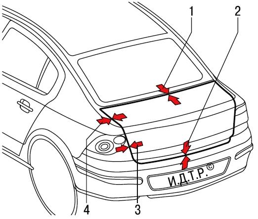 Снятие и установка крышки багажника Опель Астра Н