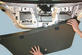 Снятие и установка моторедуктора стеклоочистителя двери задка в сборе с кронштейном Опель Астра Н