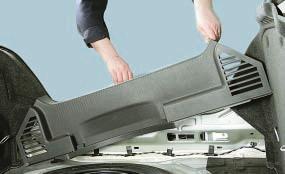 Снятие и установка облицовок багажника Опель Астра Н