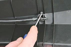 Снятие и установка решетки короба воздухопритока Опель Астра Н