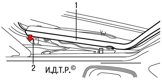 Снятие и установка сдвижного люка панели крыши Опель Астра Н